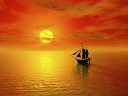 - Kızıl Gökyüzü Kanvas Tablo