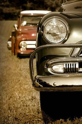 Klasik Arabalar Kanvas Tablo