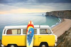 - Klasik Sarı Minibus Kanvas Tablo