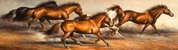 - Koşan Atlar Kabartmalı Tablo