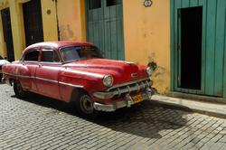 - Kübada kırmızı araç Kanvas Tablo