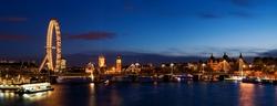 - Londra Akşamı Kanvas Tablo
