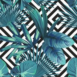 - Mavi palmiye Kanvas Tablo