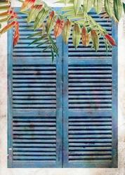 - Mavi Pencere Ahşap Tablo