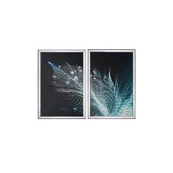 - Mavi Tüy İkili Set Tablo 95x130cm
