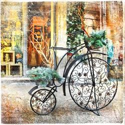 - Moderen Siyah Bisiklet Kanvas Tablo