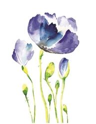 - Mor Çiçekler Kanvas Tablo