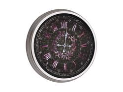 - Mor hologramlı Metal Saat çap 80cm