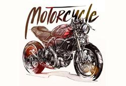 - Motorcycle Kanvas Tablo