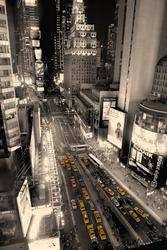 - New York Siyah Beyaz Kanvas Tablo