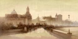 - Nostaljik Şehir 2 Kabartmalı Tablo