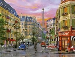 - Nostaljik Sokaklar Paris Kabartmalı Tablo