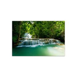 - Ormanda Şelale Kanvas Tablo