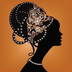 - Papatya Sarıklı Afrikalı Kadın Kanvas Tablo
