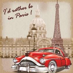 - Paris Kanvas Tablo