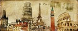 - Paris Kartpostal Kanvas Tablo