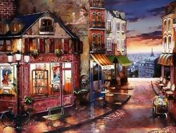 - Paris'te Bir Sokak Nostaljik Kabartmalı Tablo