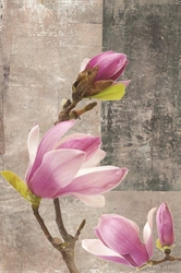 - Pembe Çiçekler Kanvas Tablo