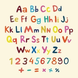 - Renkli Alfabeler Kanvas Tablo