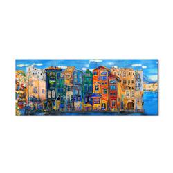 - Renkli Binalar Kanvas Tablo