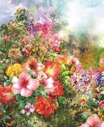 - Renkli Çiçekler Kanvas Tablo