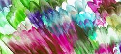 - Renkli Çiçekler Soyut Kanvas Tablo