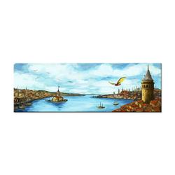 - Renkli Çizim İstanbul Kanvas Tablo