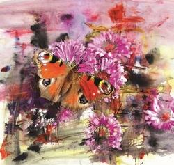 - Renkli Kelebek Kanvas Tablo