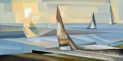 - Renkli Yelkenler Kabartmalı Tablo