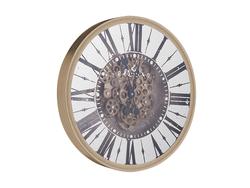 - Roman Rakamlı Gold Çarklı Saat çap 50cm