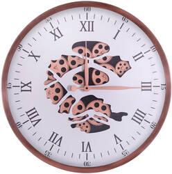 Roman Rakamlı Gold Çarklı Saat çap 60cm