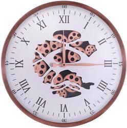 Roman Rakamlı Gold Çarklı Saat çap 60cm - Thumbnail