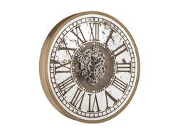 - Roman Rakamlı Gold Çarklı Saat çap 80cm