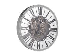 - Roman Rakamlı Gümüş Çarklı Saat çap 50cm