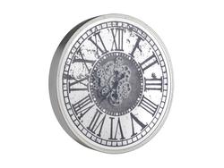 - Roman Rakamlı Gümüş Çarklı Saat çap 80cm