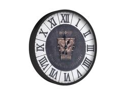 - Roman Rakamlı Siyah Saat çap 80cm
