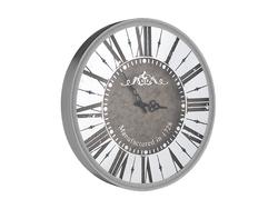 - Roman Rakamlı Yuvarlak Gümüş Saat çap 50cm