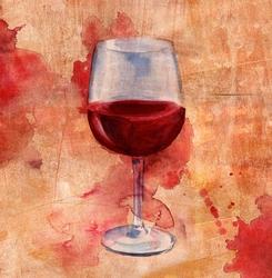 - Şarap Kadehi Kanvas Tablo