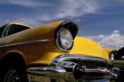 - Sarı Araba Kanvas Tablo