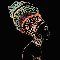 - Sarıklı Afrikalı Kadın Kanvas Tablo
