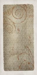 - Sarmal ve Çiçek Desenli Soyut Kanvas Tablo