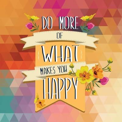 Seni Mutlu Edeni Daha Çok Yap Kanvas Tablo