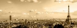 - Sepya Paris Kanvas Tablo