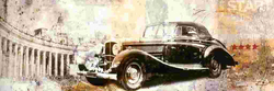 - Siyah Araba Kabartmalı Tablo