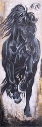 - Siyah At Kabartmalı Tablo