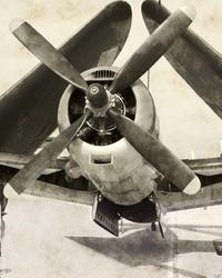 - Siyah Beyaz Uçak Kanvas Tablo