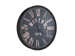 - Siyah Bistro Saat çap 80cm