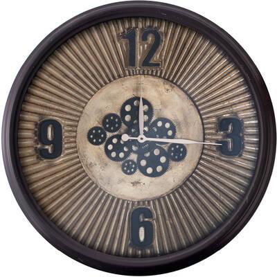 Siyah Çarklı Saat çap 80cm