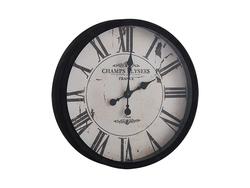 - Siyah France Baskılı Saat çap 50cm