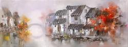 - Sonbaharda Binalar ve Kemerli Köprü Kabartma Tablo